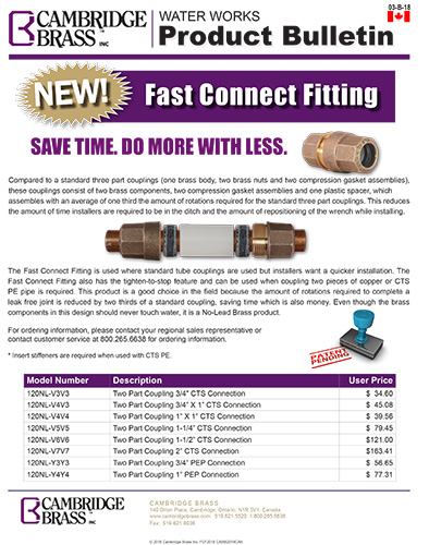 Fast Connect Fitting Brochure