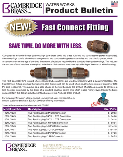 US Fast Connect Fitting Brochure