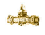 NO-LEAD CAMPAK X CAMPAK MINNEAPOLIS BALL VALVE CURBSTOP WITH DRAIN