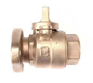 NO-LEAD FIP X METER FLANGE FULL PORT STRAIGHT METER VALVE WITH LOCK