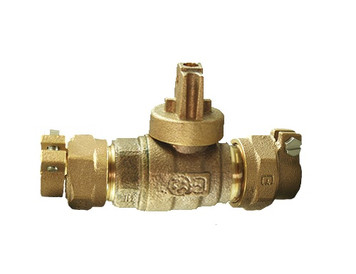 NO-LEAD CAMPAK X CAMPAK FULL PORT BALL VALVE CURBSTOP