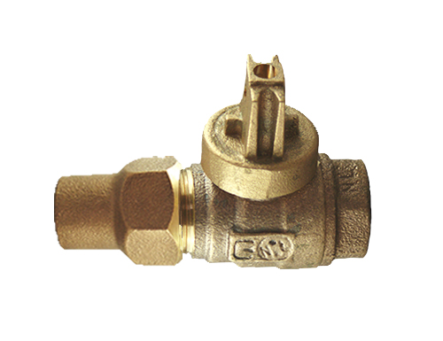 NO-LEAD HAYSTITE X FIP FULL PORT BALL VALVE CURBSTOP
