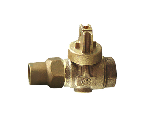 NO-LEAD CF X FIP FULL PORT BALL VALVE CURBSTOP WITH DRAIN
