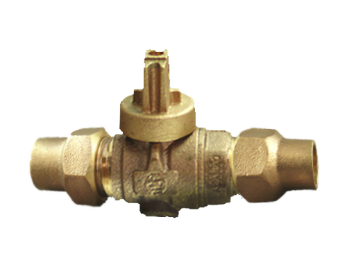 NO-LEAD HAYSTITE X HAYSTITE FULL PORT BALL VALVE CURBSTOP WITH DRAIN