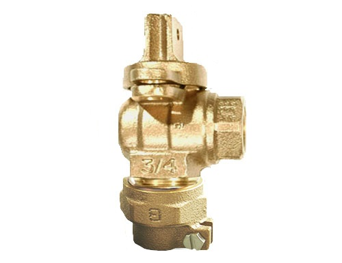 NO-LEAD CAMPAK X FIP FULL PORT ANGLE METERVALVE WITH LOCK