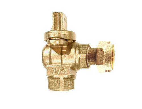 NO-LEAD FIP X METER FULL PORT ANGLE METERVALVE WITH LOCK