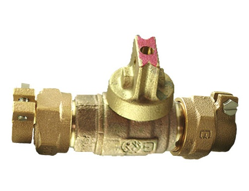 NO-LEAD CAMPAK X CAMPAK OPEN RIGHT BALL VALVE CURBSTOP