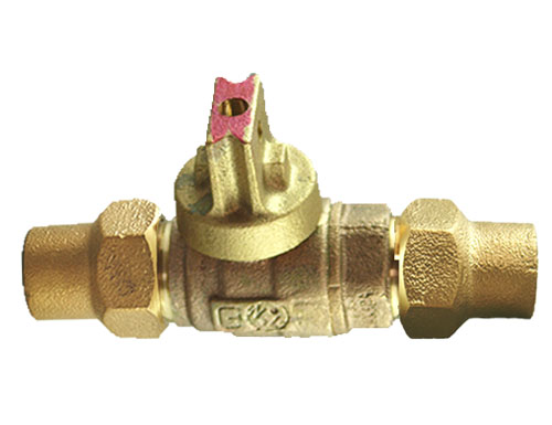 NO-LEAD CF X CF OPEN RIGHT BALL VALVE CURBSTOP