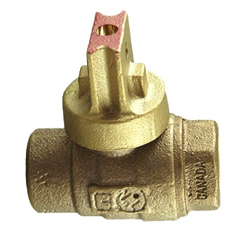 NO-LEAD FIP X FIP OPEN RIGHT BALL VALVE CURBSTOP