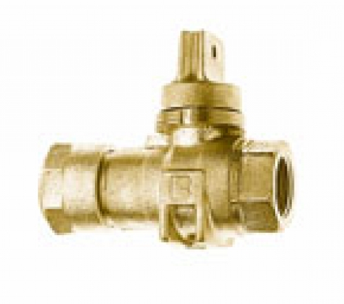 NO-LEAD CB COMPRESSION X FIP MINNEAPOLIS BALL VALVE CURBSTOP WITH DRAIN