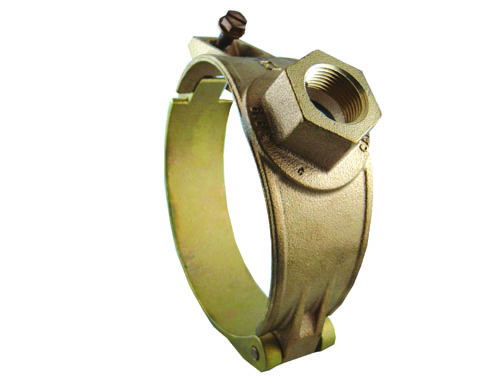 Brass Hinged Saddle for C900 PVC Pipe