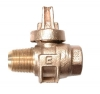 NO-LEAD AWWA X FIP BALL VALVE CORPORATION WITH TEEHEAD