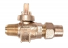 NO-LEAD MIP X CF BALL VALVE CORPORATION WITH TEEHEAD