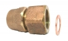 NO-LEAD CB COMPRESSION X FEMALE CF THREAD FULL BORE COUPLING