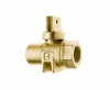 NO-LEAD FIP X FIP FULL PORT BALL VALVE CURBSTOP WITH DRAIN