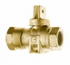 NO-LEAD CB COMPRESSION X FIP FULL PORT BALL VALVE CURBSTOP WITH DRAIN
