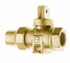 NO-LEAD HAYSTITE X FIP FULL PORT BALL VALVE CURBSTOP WITH DRAIN
