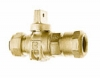 KITEC X CB COMPRESSION FULL PORT BALL VALVE CURBSTOP WITH DRAIN
