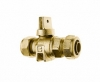 KITEC X PE PIPE CONNECTION FULL PORT BALL VALVE CURBSTOP WITH DRAIN