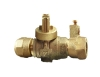 NO-LEAD CB COMPRESSION X CB COMPRESSION ELECTRICAL FULL PORT BALL VALVE CURBSTOP WITH DRAIN