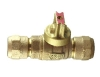NO-LEAD CB COMPRESSION X CB COMPRESSION OPEN RIGHT BALL VALVE CURBSTOP