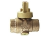 NO-LEAD FIP X FIP OPEN RIGHT BALL VALVE CURBSTOP WITH DRAIN